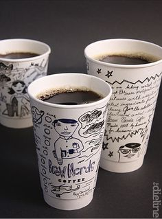 TheDieline.com: Brew Nerds and Kernal Kustard by Mitre Agency #coffee #cups