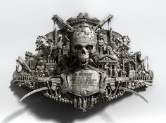 Amnesty International on the Behance Network #skull #sculptures #death