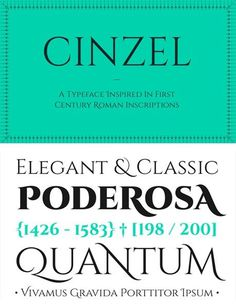 free fonts 2014 Cinzel #fonts #types