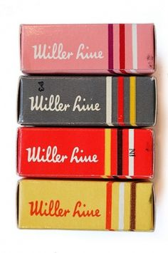 Packaging / Miller Line Typewriter Ribbon Boxes | Flickr - Photo Sharing! #packaging