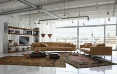 What wall colours for a brown sofa modern design #sofa #living #furniture #brown #room