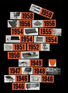 Timeline (Herman Miller, 1960) #1950s #vintage #advertising #herman miller #magazine #george nelson #charles # #ray #eames