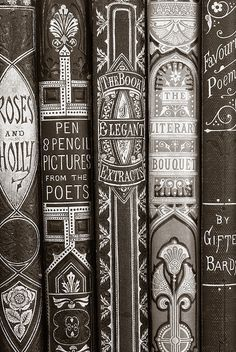 aoneal: Old books 1 (by IainSarjeant) I love books.#covers #books #typography