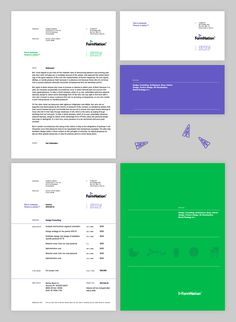 FormNation « Design Bureau – Lundgren+Lindqvist #print #letter #letterhead #invoice #mock up #stationery