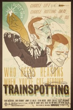 Dribbble - Trainspotting-Web.jpeg by Aaron Scamihorn | RONLEWHORN #movie #motion #print #drugs #screen #illustration #vintage #poster #trainspotting