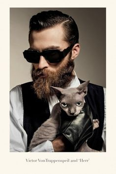 bangbangdot.com | Isson- School of Bauhaus 1934 #beard #portrait #sunglasses #cat