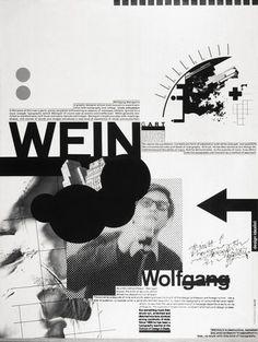Wolfgang Weingart poster #swiss #weingart #typography