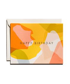 Modern #birthday #card #abstract