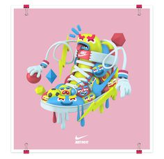 3D Illustrations-El Grand Chamaco #nike #illustration