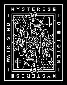 HYSTERESE X WSDT #endor #endor designs #hysterese #wirsinddietoten #wsdt #bandmerch #illustration #graphicdesign #endordesigns