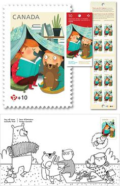 Post Canada felled in love and opted for the innocence of Marie-Eve Tremblay's sweet universe for its stamps campaign for Canada Post Commun