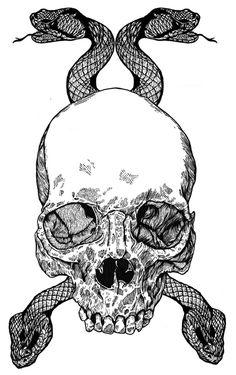 FRENCH #skull #snakes