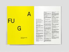 Dicionário das Ideias Feitas on Behance #pages #run #fuga #yellow #spread #dictionary #away #typography