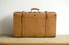 Old leather suitcase for old-timer cars – Benzol Bag #suitcase #vintage #leather