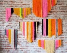 100 Creative DIY Wall Art Ideas to Decorate Your Space #threads #colour #art