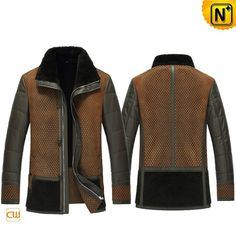 Warmest genuine shearling winter coats for men crafted from soft sheepskin lining interior and rugged leather exterior on sale, best shearli #mens #shearling #coats