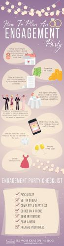 engagement party ideas how to plan party infographic