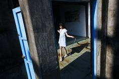 Google Image Result for http://www.riischroer.com/wp-content/uploads/2010/10/rii_taiwanblog_11.jpg #young #house #girl #school #door #blue #shadow