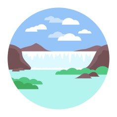 See more icon inspiration related to river, waterfall, nature, landscape and natural on Flaticon.