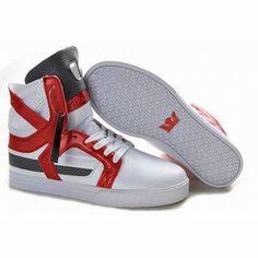 Supra Skytop II High Tops White Red Black Men's #shoes