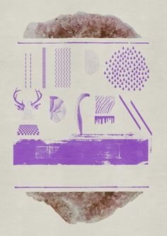 "ICE CREAM FOR FREEâ""¢ #purple #geode #poster"