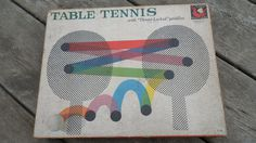 Vintage Table Tennis Ping Pong Set with box Windsor Victor England balls net paddles directions Tucket Toy Corp Pawtucket R.I. #pong