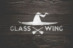Glass Wing on Behance #font #broom #glass #wood #witch #wing #logo #typography