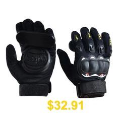 Long #Board #Slider #Speed #Brake #Gloves #Skateboard #Double #Slide #Block #Downhill #Brake #Glove