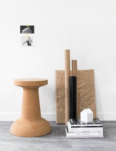 Pushpin Cork - Kenyon Yeh for ESAILA #furniture #minimal #cork #stool #natural #design #product design
