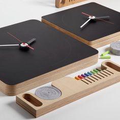 Tabla Blackboard Wall Clock #tech #flow #gadget #gift #ideas #cool