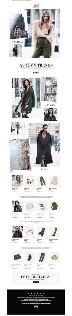 H&M fashion week email