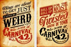 The Carnival 42 Project | Top Design Magazine - Web Design and Digital Content #circus #carnival #poster #typography
