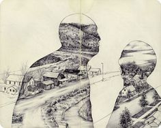 The Natural and Urban Collide in the Drawings of Pat Perry #drawing