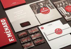 F. Ménard designed by lg2 boutique #id #letterhead #branding