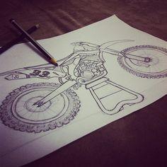 Heart. #kawasaki #sketch #offtheroad #bike