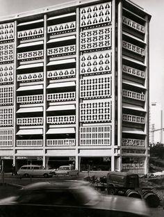 Brutalist Car Park in Stockholm, 1966 #architecture #brutalist