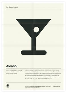 The Human Project (Alcohol) Poster #inspiration #creative #design #graphic #grid #system #poster #typography