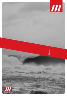 Surfers Against Sewage on the Behance Network #surfers #tape #red #surf #branding #sewage #poster #hinds #logo #against #waves