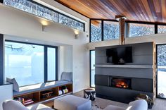 Ski Chalet by Robitaille.Curtis - #architecture, #house, #home, #decor, #interior, #homedecor,