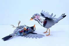 Colossal | An art and design blog. | Page 2 #cut #sculpture #herrera #diana #birds #beltran #paper