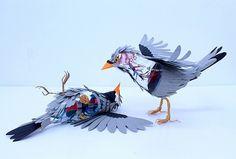 Colossal | An art and design blog. | Page 2 #cut #sculpture #herrera #diana #birds #beltran #paper