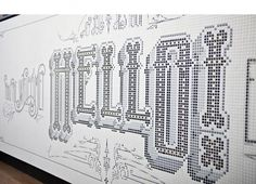VINCCI BIT HOTEL on the Behance Network #tiles #mosaic #typography