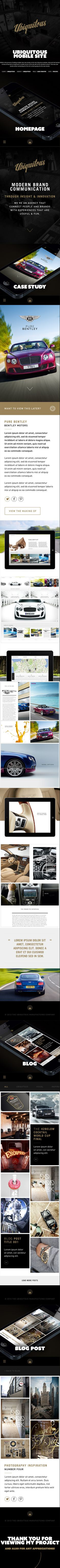 Ubiquitous Mobile Site on Behance #web #mobile