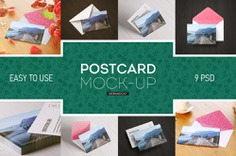 Postcard and Invitation Card Mockup