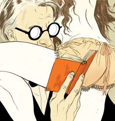 Jillian Tamaki / Poet #glasses #illustration #esquire