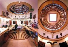 Writing office for National Geographic's #office #books #dome #library #home office