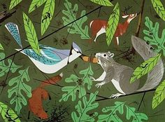 Trixie's Treats: Charley Harper's Wildlife #charley #wood #illustration #animals #harper