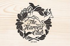 The Harvest Club » 2Di4design #deer #logo #wood #hunting #type #signet