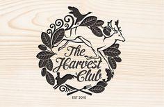 The Harvest Club » 2Di4design #deer #logo #wood #hunting #type #signet