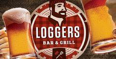 Loggers Bar & Grill #beer #log #branding #lumberjack #logo
